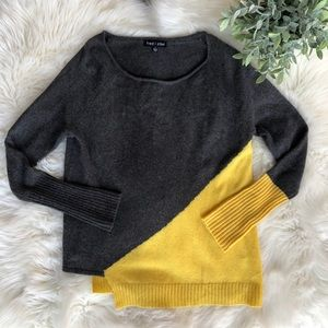Anthropologie Gray Cashmere Asymmetrical Sweater